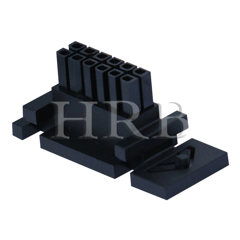 P3025 Dual Row Male Housing Connector with Panel Mount